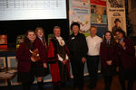 The winners, Hamilton College, with the Lord Mayor of Oxford, Wayne Mills and Frank Cottrell Boyce