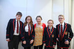 Enniskillen Royal Grammar School with author Moira McPartlin