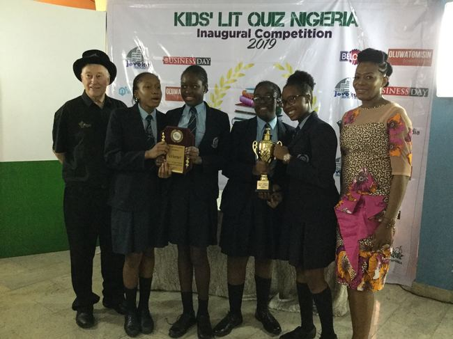 Grange School Team 1, winners of the 2019 KLQ Nigeria National Final