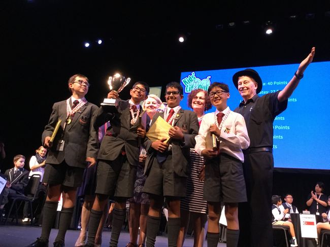 St John's College, Johannesburg (SA), winners of the 2017 KLQ World Final